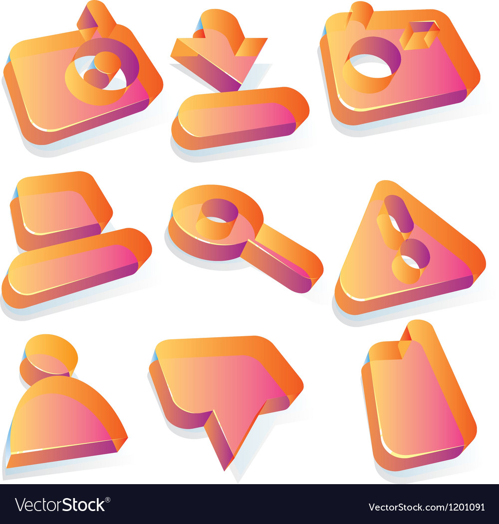 Media translucent acrylic icons vector | Price: 1 Credit (USD $1)