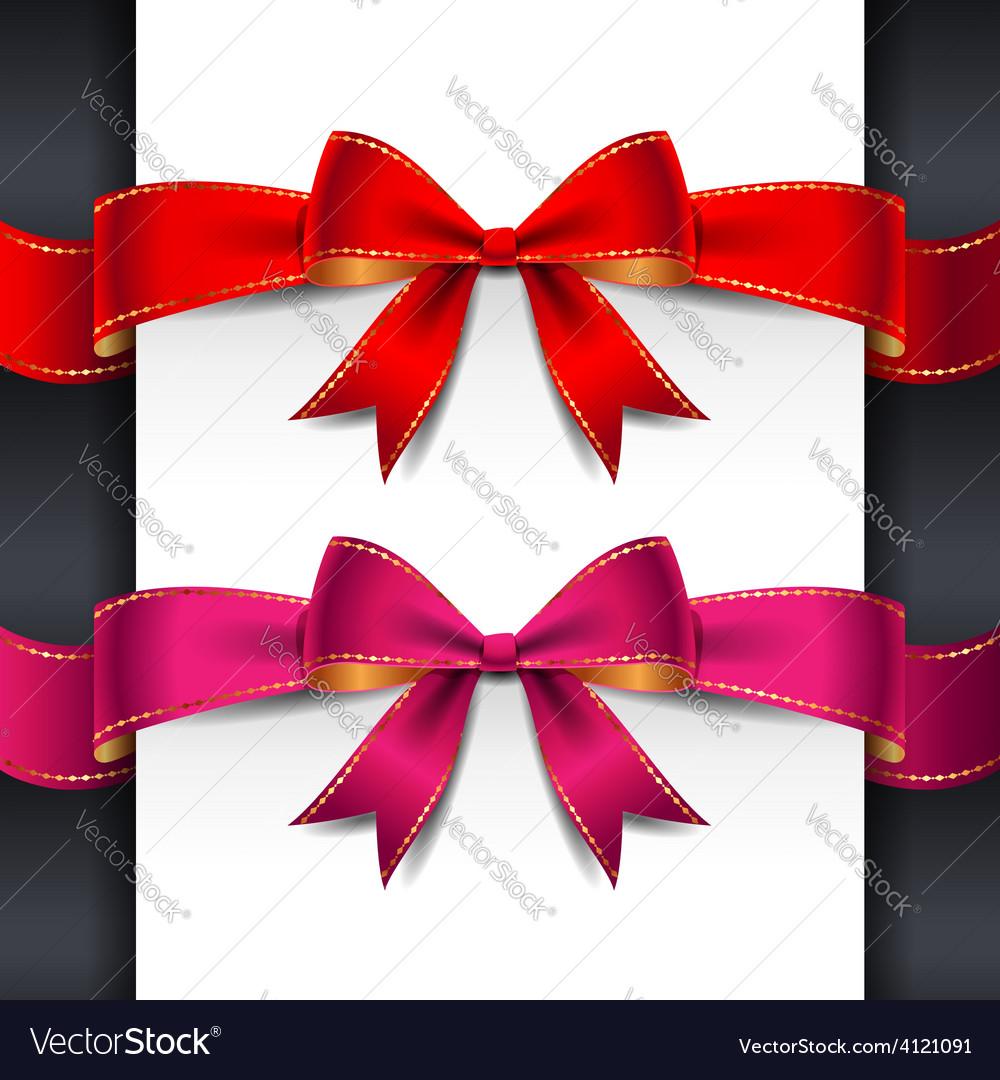 Ribbon red pink bows vector | Price: 1 Credit (USD $1)