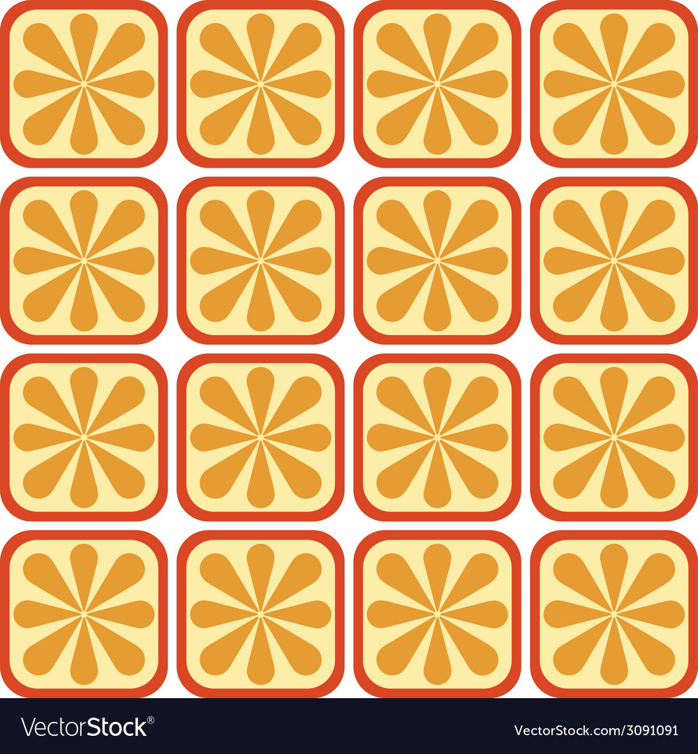 Seamless orange pattern vector | Price: 1 Credit (USD $1)