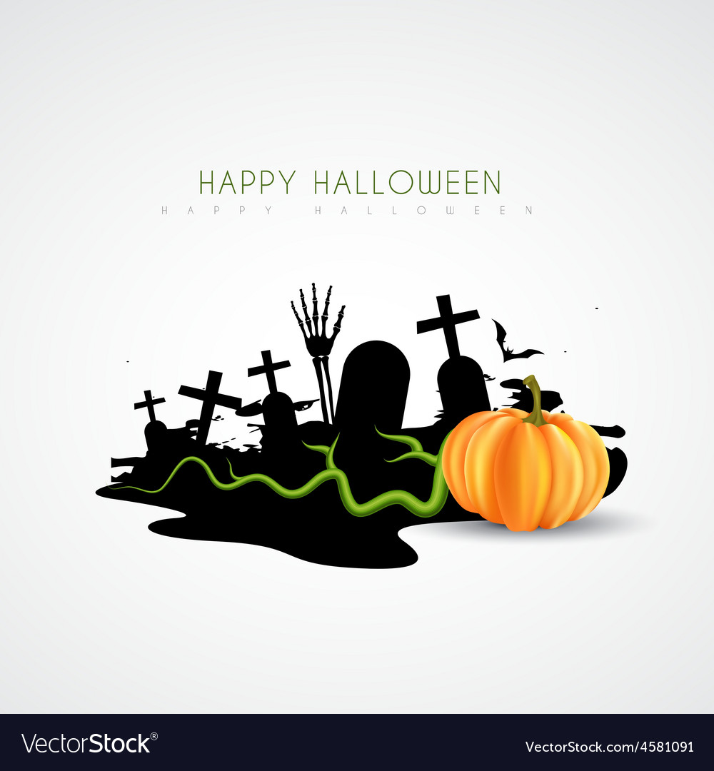 Spooky halloween design vector | Price: 1 Credit (USD $1)