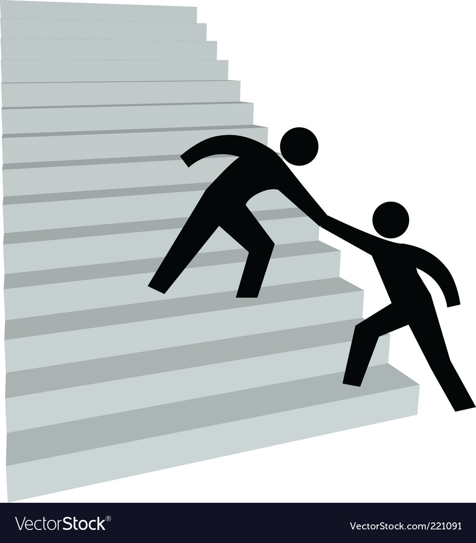 Stairway to success vector | Price: 1 Credit (USD $1)