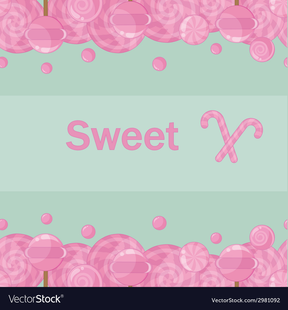 Candy lollipops seamless pattern background vector | Price: 1 Credit (USD $1)