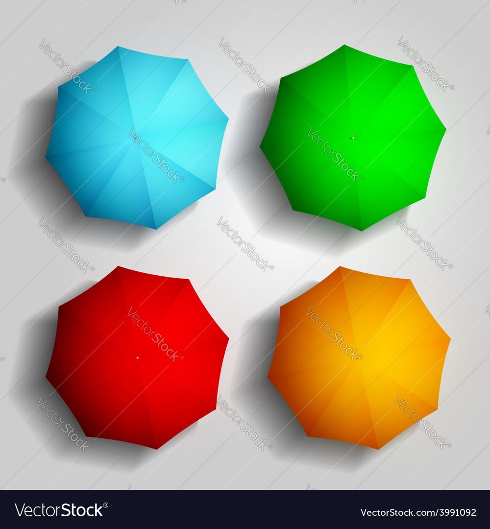 Colorful umbrellas vector | Price: 1 Credit (USD $1)