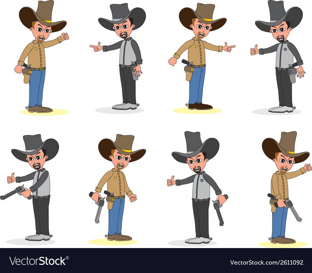 Cowboy cartoon vector | Price: 1 Credit (USD $1)