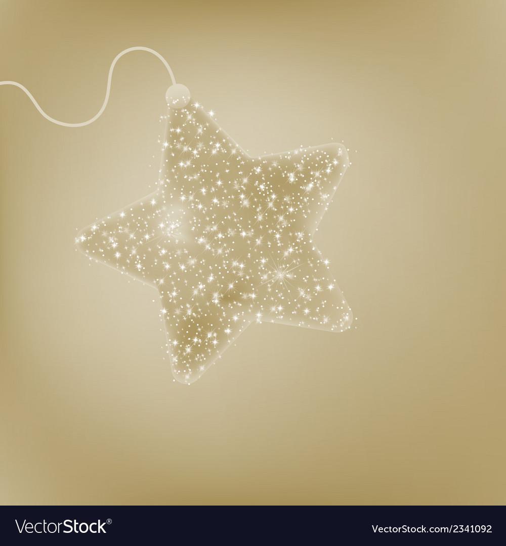 Elegant christmas star postcard eps 8 vector | Price: 1 Credit (USD $1)