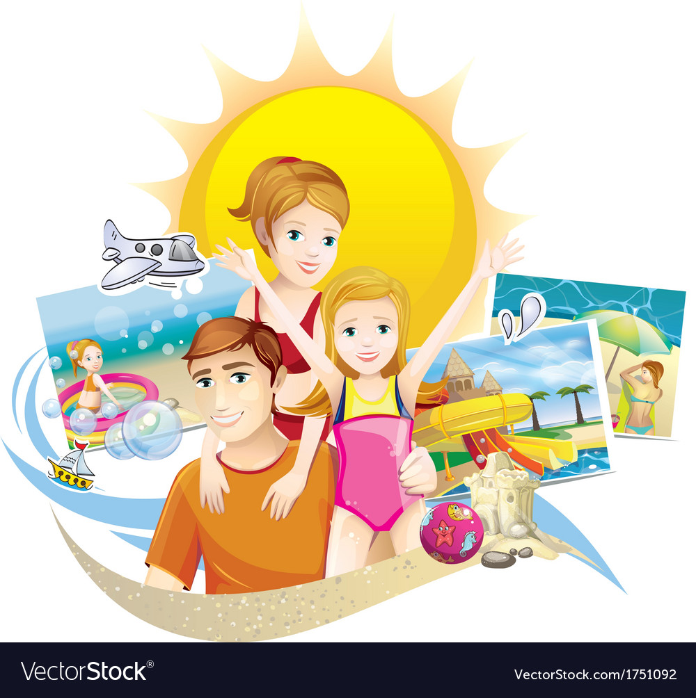 Family summer vector | Price: 3 Credit (USD $3)