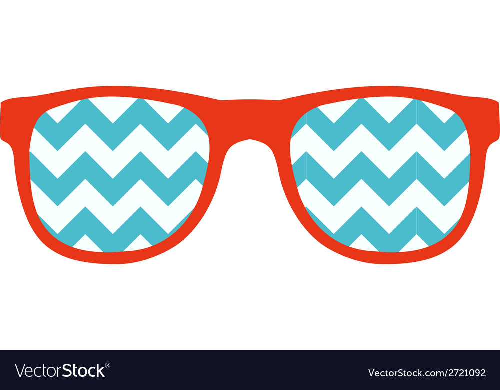 Glasses icon in flat style vector | Price: 1 Credit (USD $1)