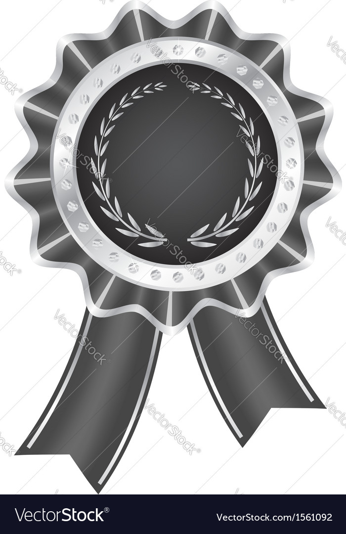 Gray award ribbon vector | Price: 1 Credit (USD $1)