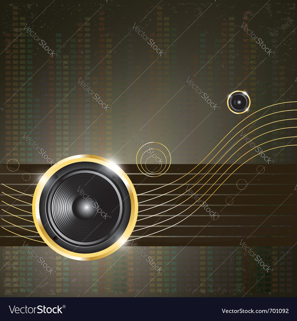 Modern music background vector | Price: 1 Credit (USD $1)