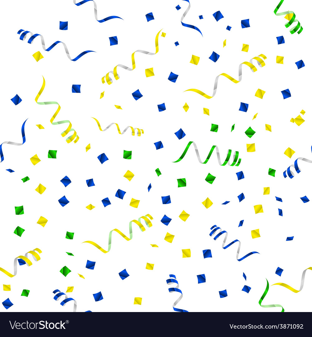 Party streamers seamless pattern vector | Price: 1 Credit (USD $1)