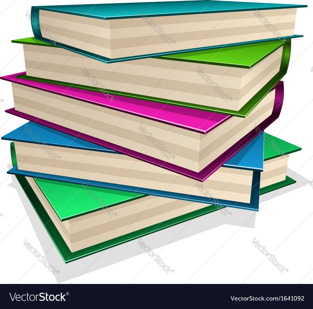 Pile of books isolated on white vector | Price: 1 Credit (USD $1)