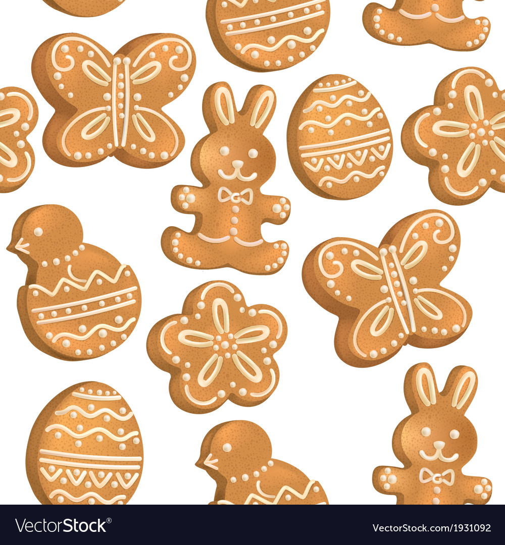 Seamless pattern of easter cookies vector | Price: 1 Credit (USD $1)