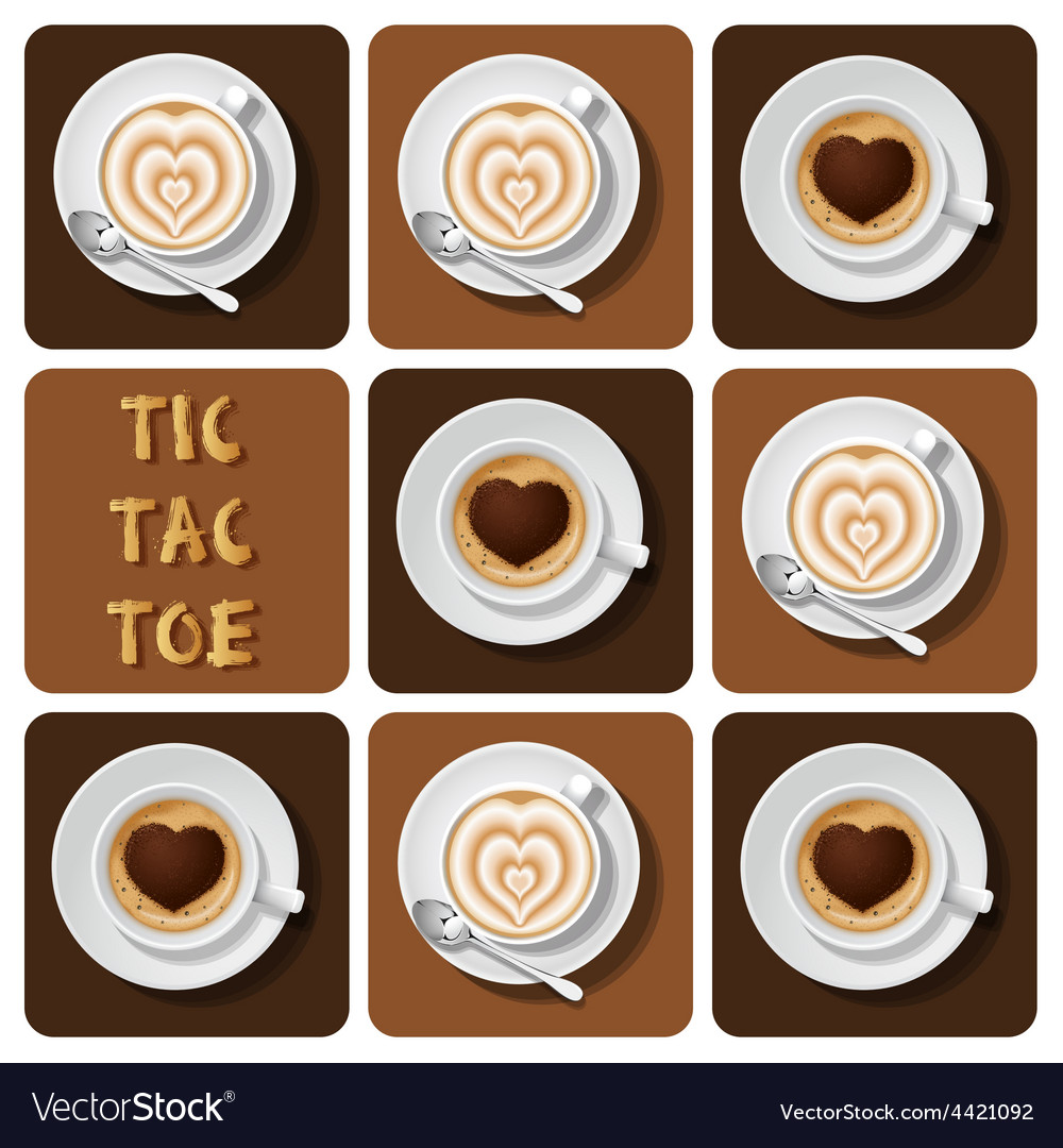 Tic-tac-toe of cappuccino and latte vector | Price: 1 Credit (USD $1)