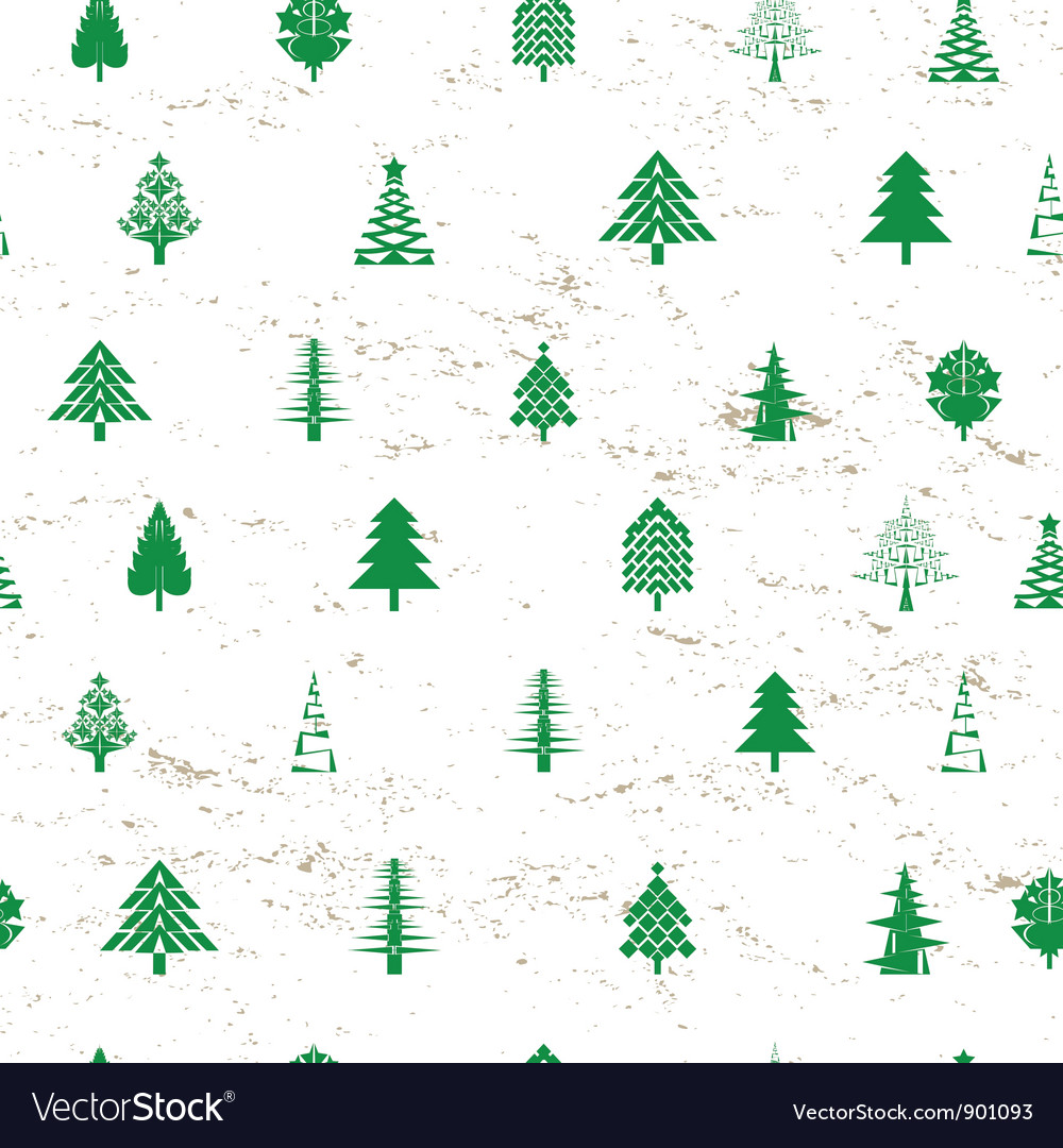 Abstract christmas tree pattern vector | Price: 1 Credit (USD $1)