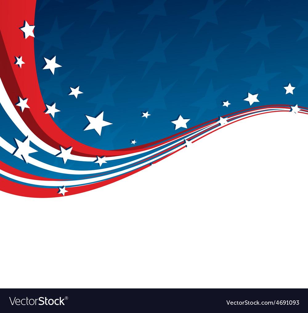 American flag patriotic background vector   Price: 1 Credit (USD $1)