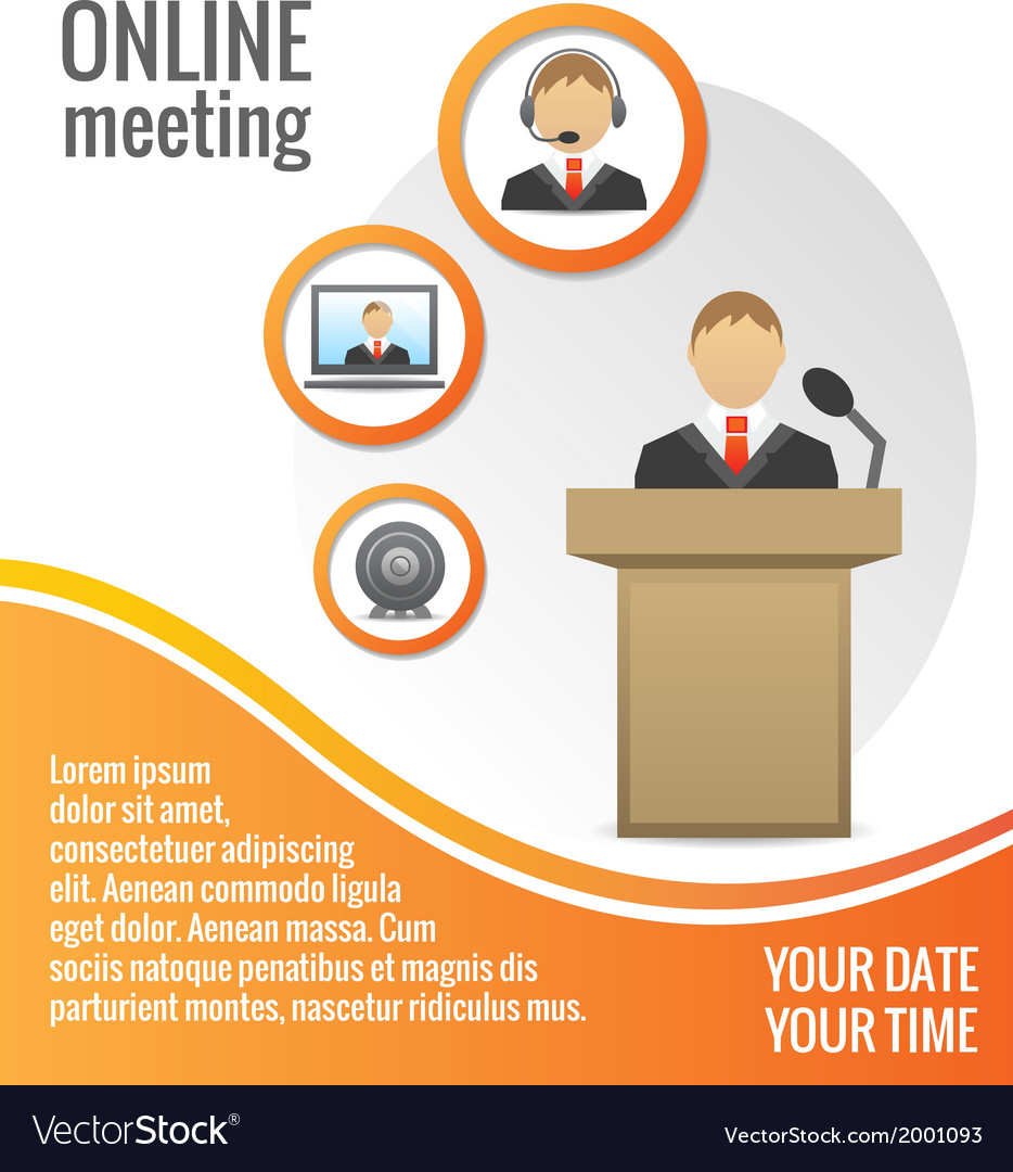 Business people meeting poster template vector | Price: 1 Credit (USD $1)
