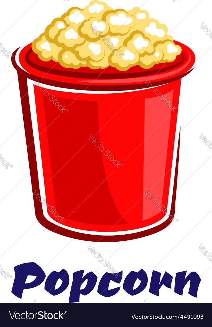 Fresh popped cartoon takeaway popcorn vector | Price: 1 Credit (USD $1)