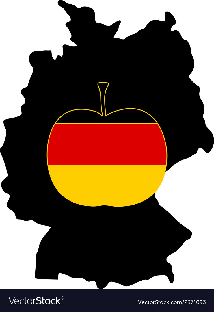 German apple vector | Price: 1 Credit (USD $1)