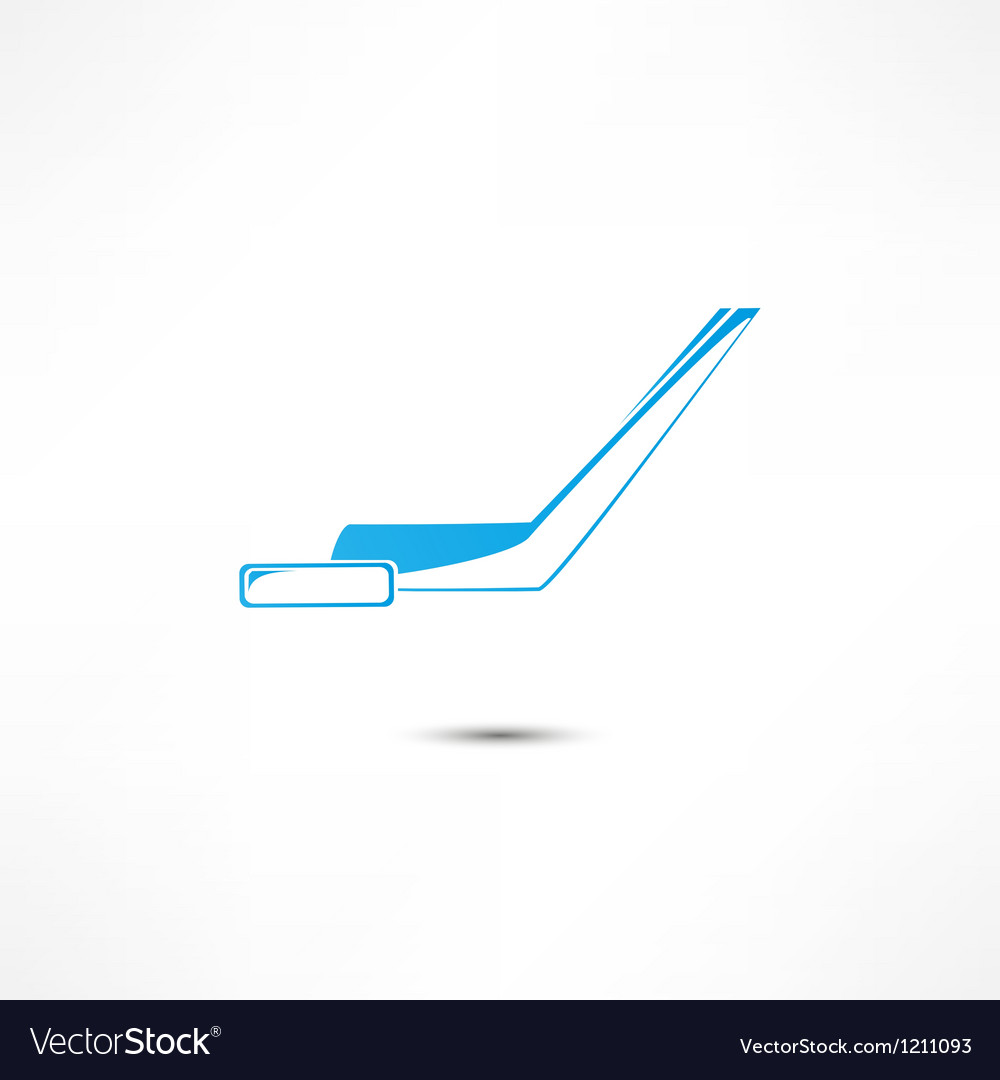 Hockey stick and puck icon vector | Price: 1 Credit (USD $1)