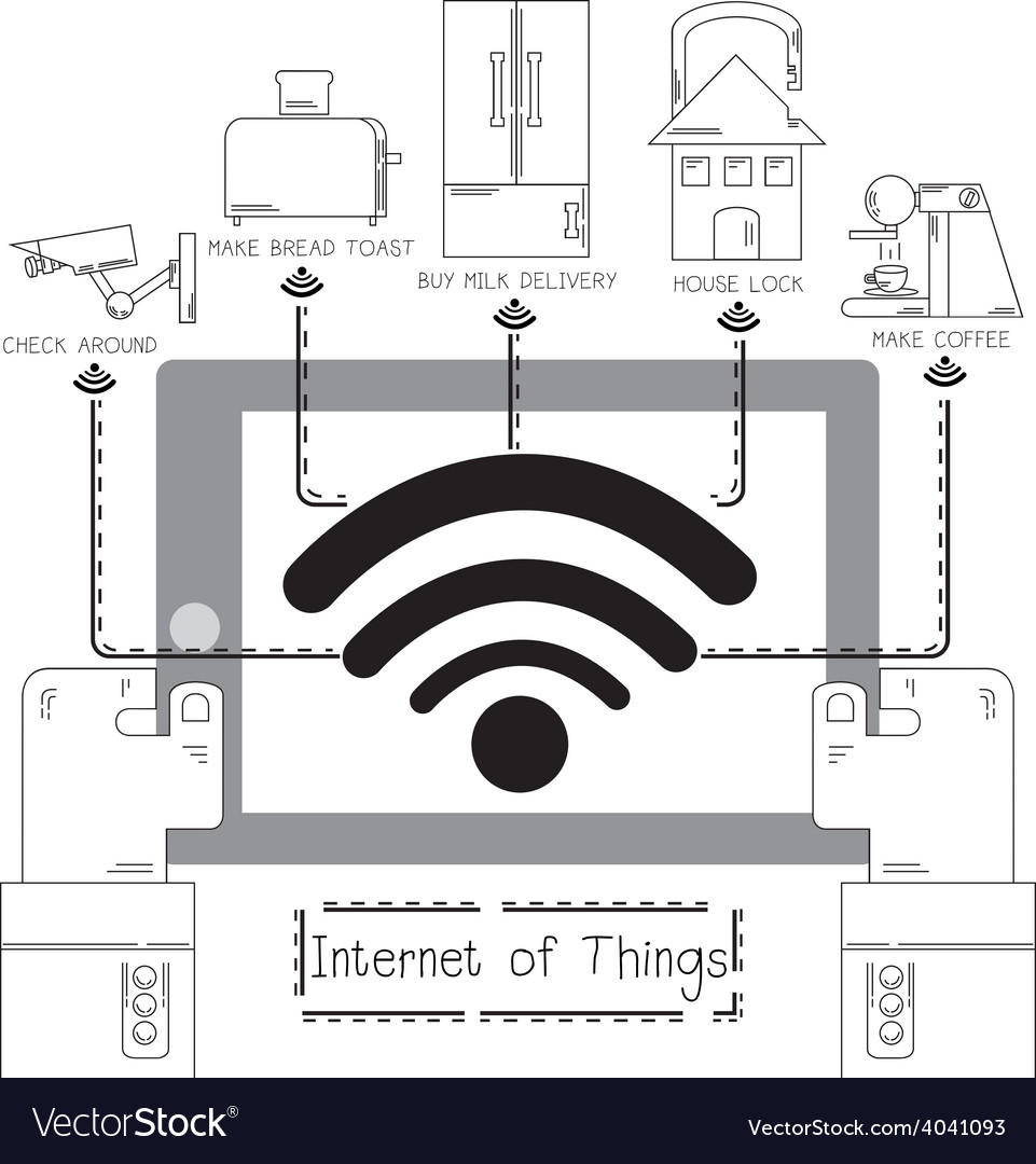 Internet of things everywhere vector | Price: 1 Credit (USD $1)