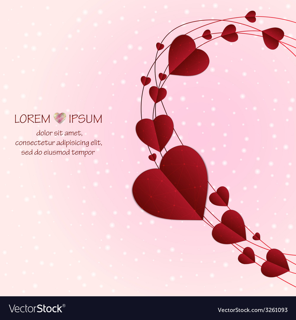 Love background with circles lines and hearts vector | Price: 1 Credit (USD $1)
