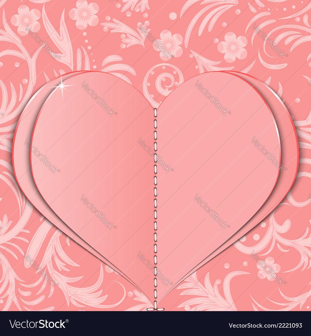 Pink paper heart vector | Price: 1 Credit (USD $1)