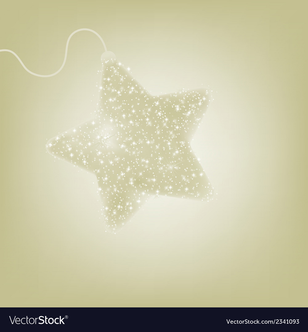 Postcard with a twinkling elegant star eps 8 vector | Price: 1 Credit (USD $1)