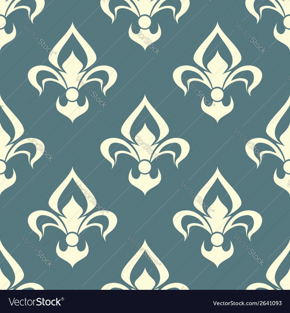 Seamless floral pattern with arabesque element vector | Price: 1 Credit (USD $1)