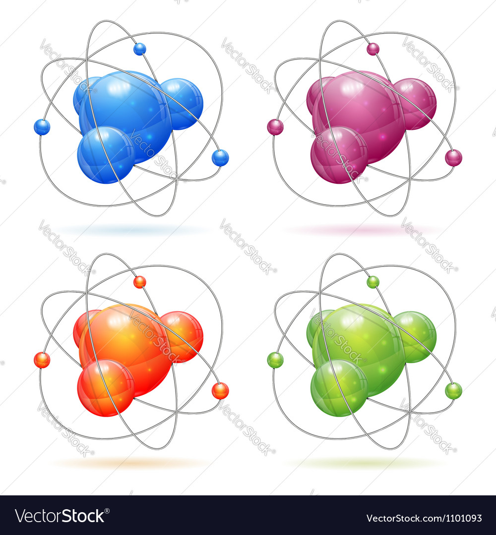 Set atom model vector | Price: 1 Credit (USD $1)