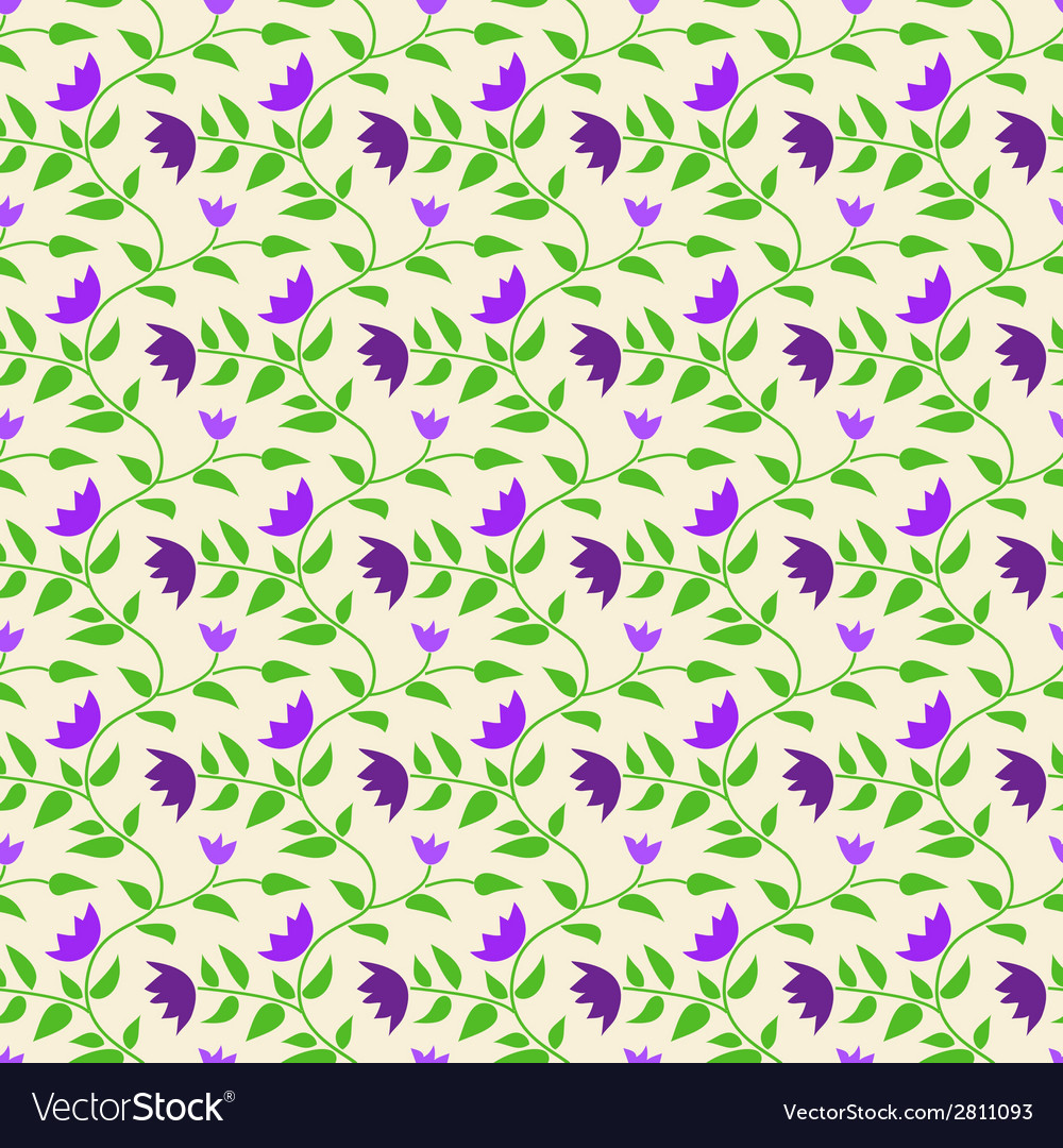 Spring style seamless background floral pattern vector | Price: 1 Credit (USD $1)