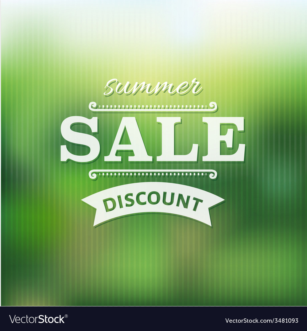 Summer sale poster with bokeh vector   Price: 1 Credit (USD $1)