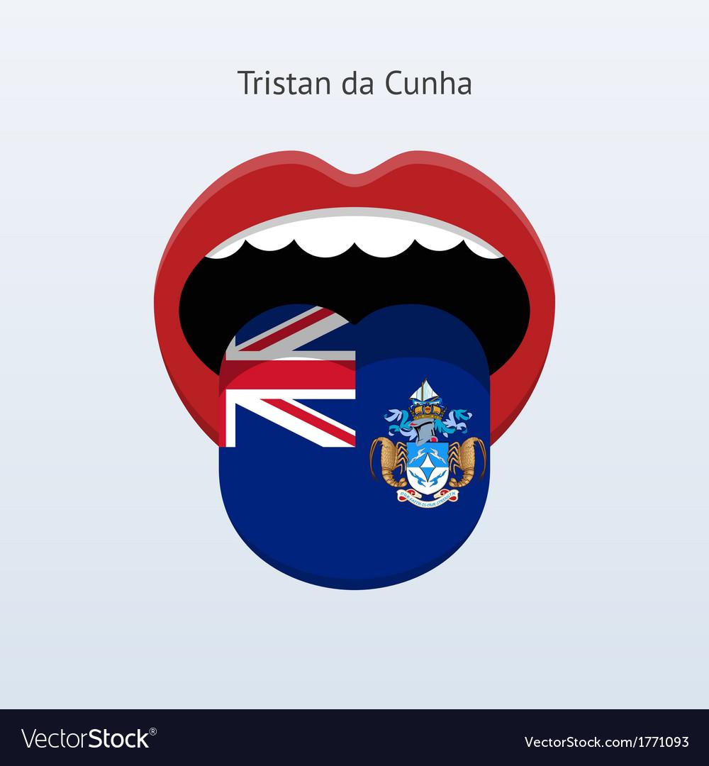 Tristan da cunha language abstract human tongue vector   Price: 1 Credit (USD $1)