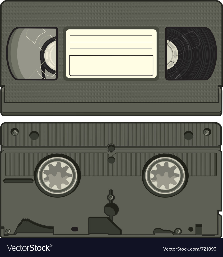 Video tape cassette vector | Price: 1 Credit (USD $1)