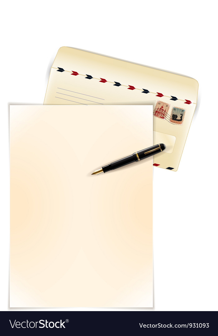 Write a letter vector | Price: 3 Credit (USD $3)
