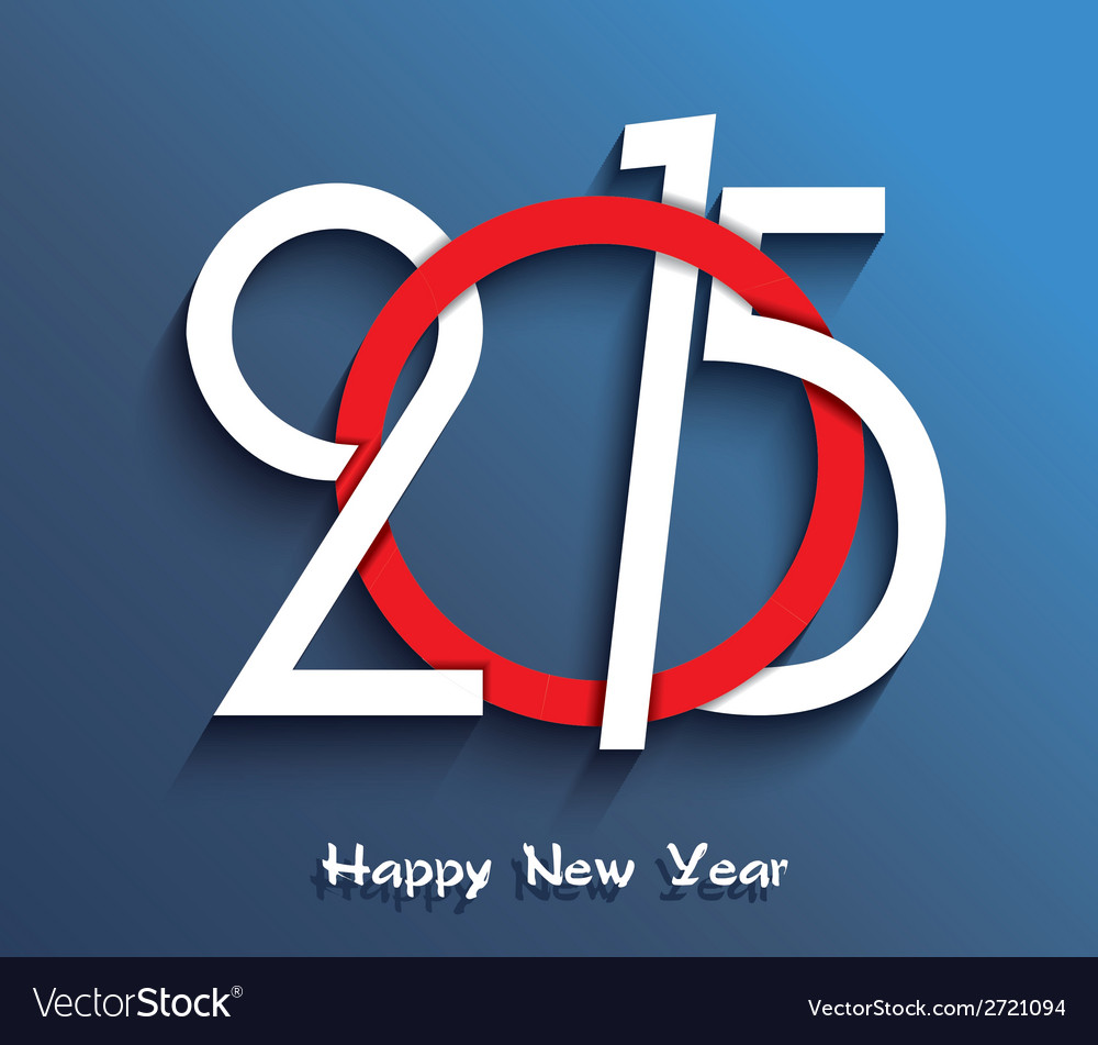 2015 happy new year creative greeting card design vector | Price: 1 Credit (USD $1)