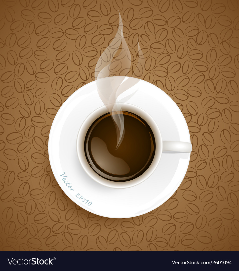 Coffee with coffee beans background vector | Price: 1 Credit (USD $1)