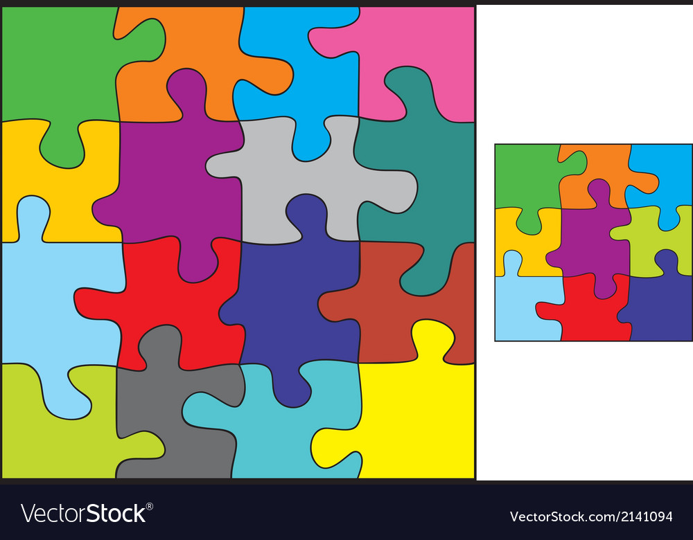 Colorful puzzle vector | Price: 1 Credit (USD $1)