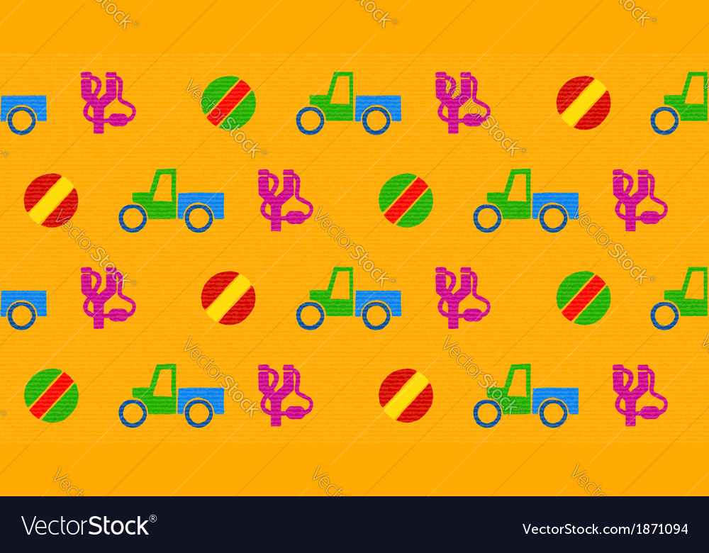 Colorful seamless pattern with toys vector | Price: 1 Credit (USD $1)