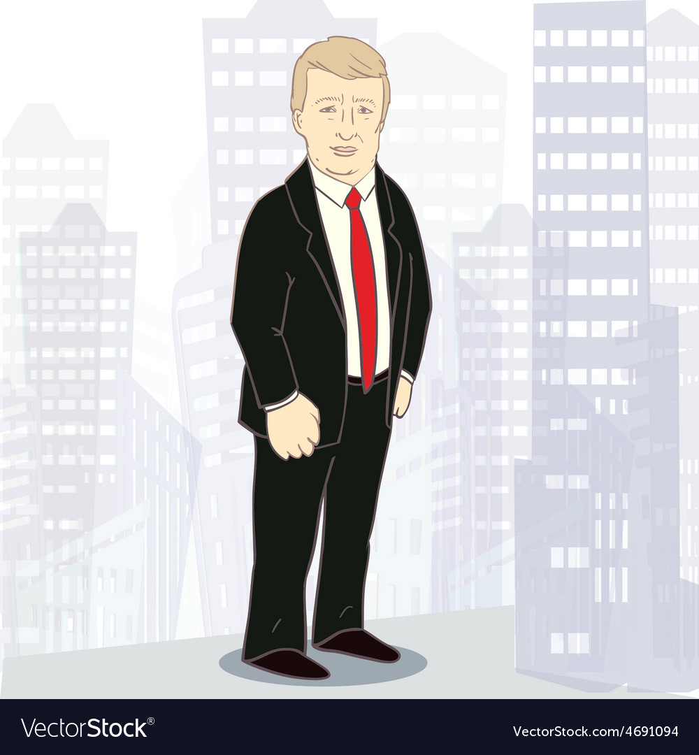 Confidently businessman of white vector | Price: 1 Credit (USD $1)