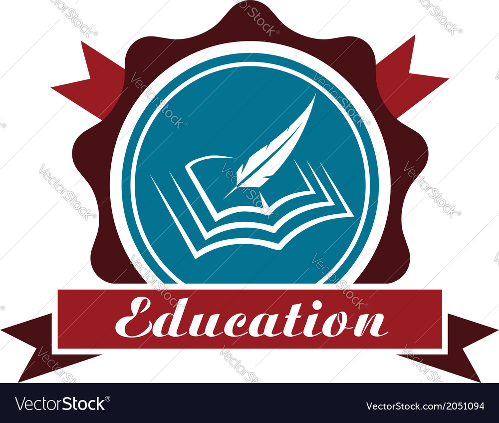 Education icon or emblem vector   Price: 1 Credit (USD $1)