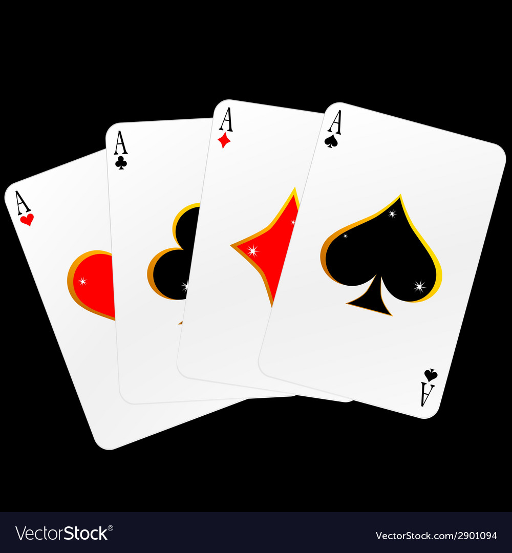 Four ace cards vector | Price: 1 Credit (USD $1)