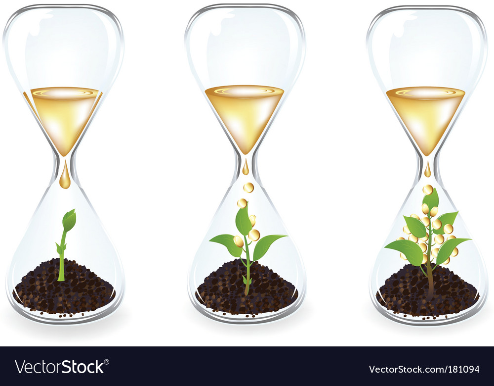 Glass clocks vector | Price: 1 Credit (USD $1)