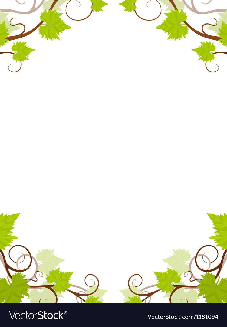Grape vines frame vector | Price: 1 Credit (USD $1)