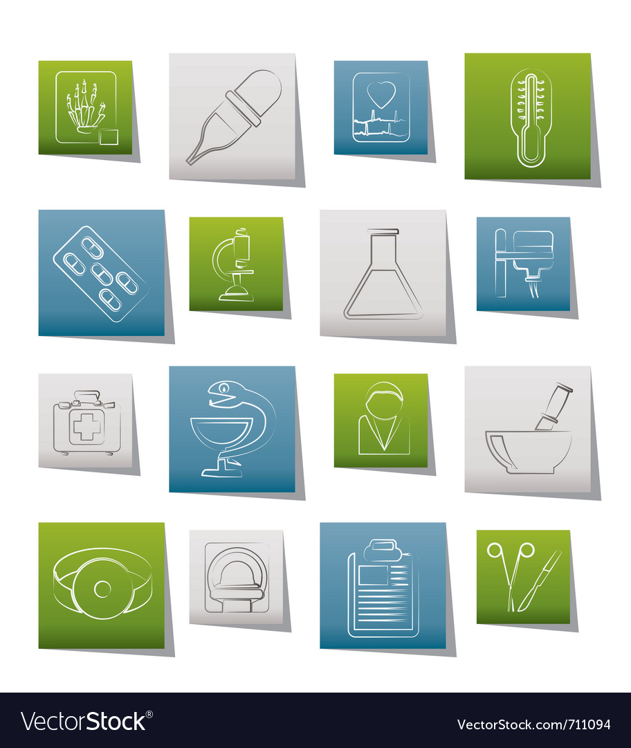 Healthcare and medicine icons vector | Price: 1 Credit (USD $1)