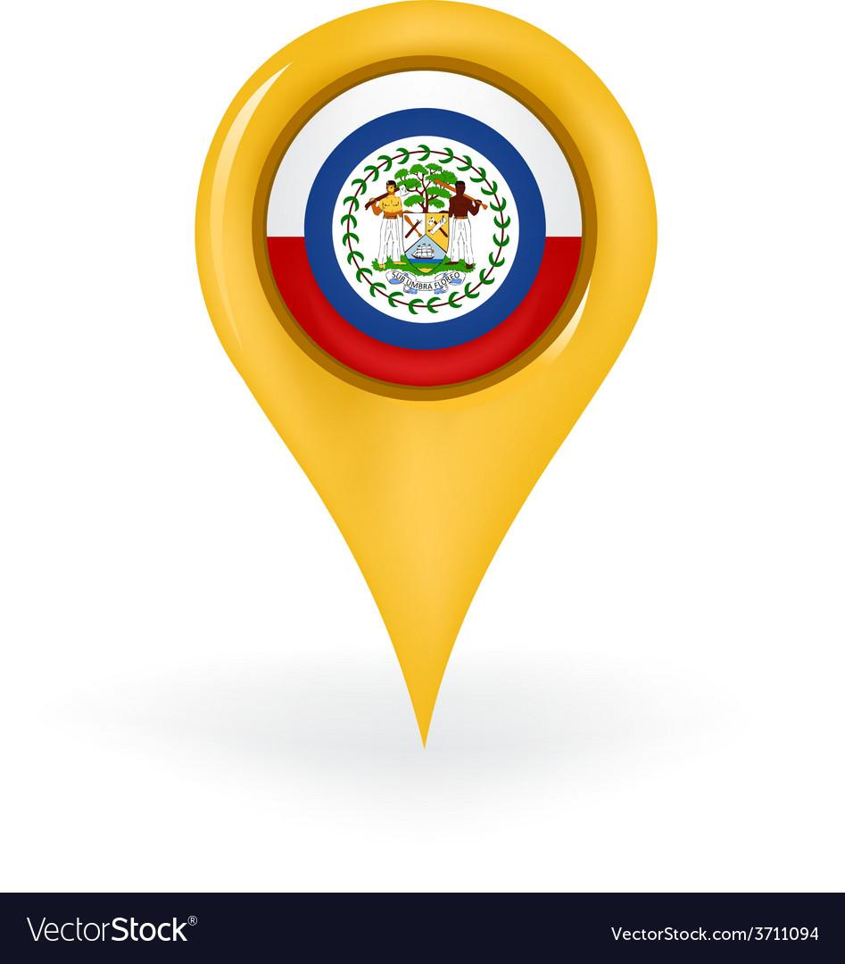Location belize vector | Price: 1 Credit (USD $1)