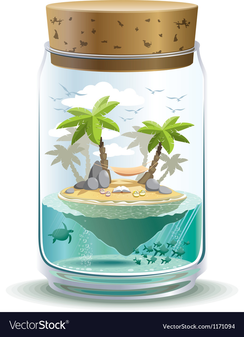 Piece of paradise vector | Price: 5 Credit (USD $5)