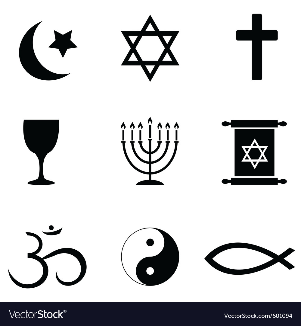 Religious symbols vector | Price: 1 Credit (USD $1)