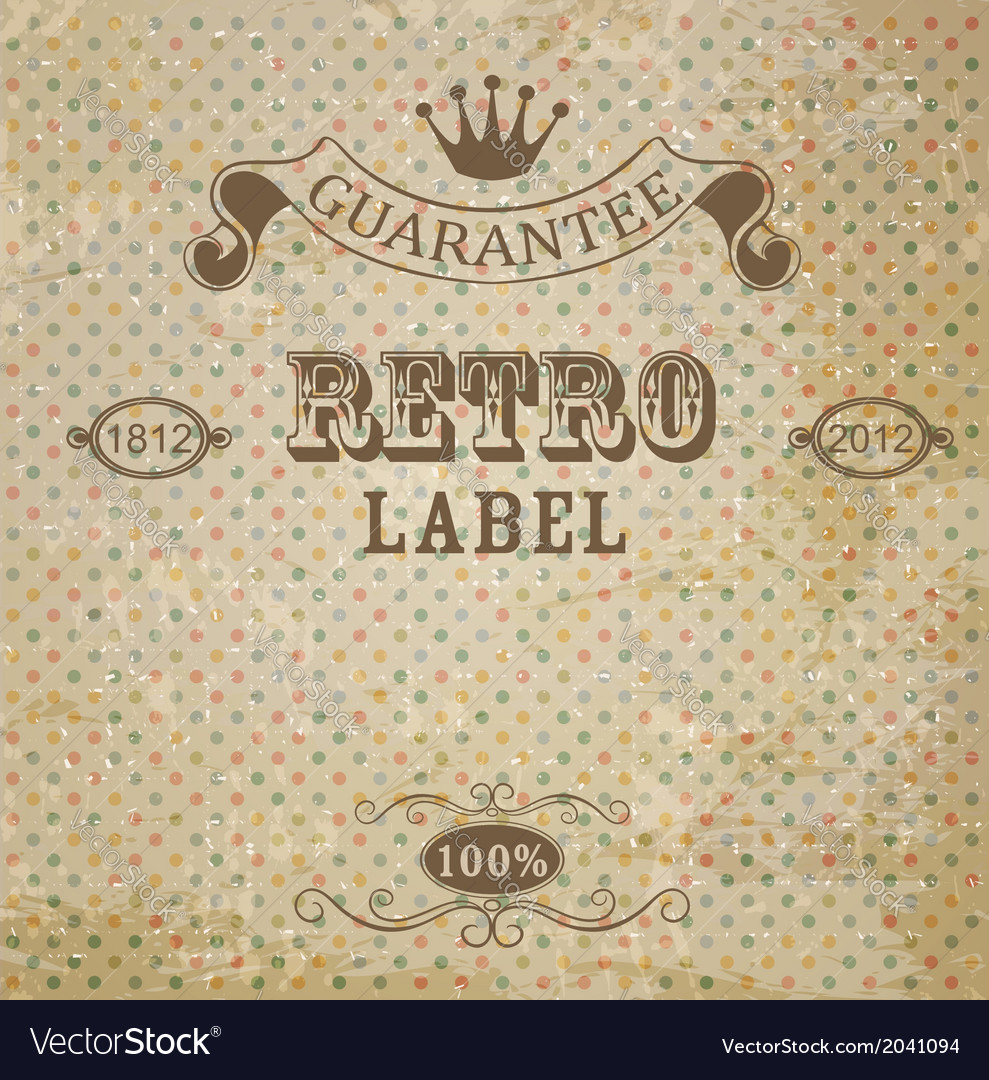 Retro background with vintage elements vector | Price: 1 Credit (USD $1)