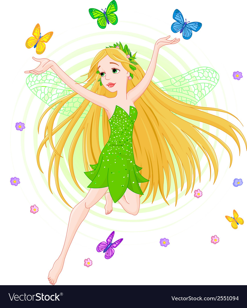 Spring fairy vector | Price: 1 Credit (USD $1)