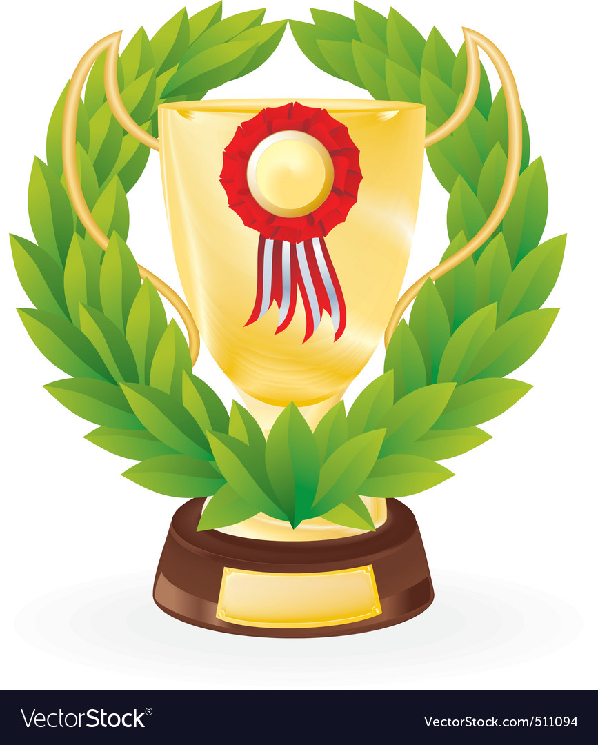 Trophy wreath vector | Price: 1 Credit (USD $1)
